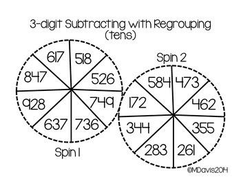 Let's Spin A Subtraction Problem!