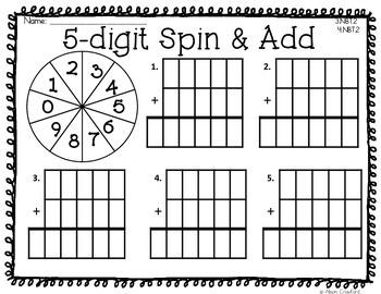 Let's Spin & Add 3.NBT.2 4.NBT.2