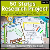 50 States Project- Research Project | Report {with grading rubric}