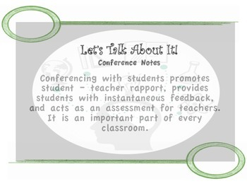 Let's Talk About It! - Conference Notes