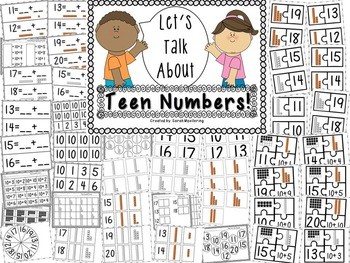 Let's Talk About Place Value! (K.NBT CCSS aligned for Kindergarten!)
