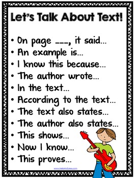 Close Reading Poster For Accountable Text Talk