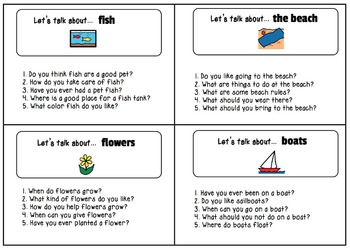 Let's Talk About... {Visual Conversation Starters for Special Education}