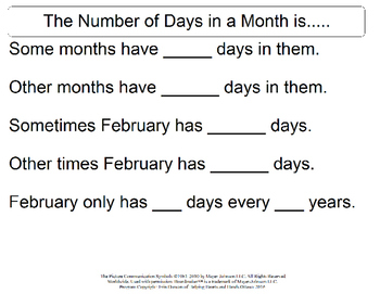 Lets Talk About the Months and Days in The Year