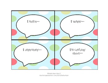 Let's Talk Bundle Common Core Conversation Cards for Partnerships
