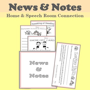 Notes and News from Our Speech Room