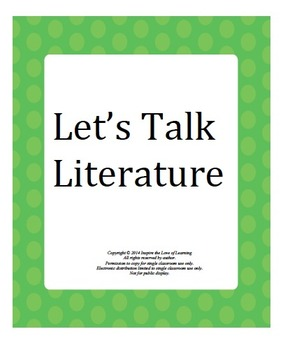 Let's Talk Literature: Literature Circle Cards