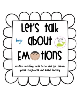 Feelings Match Game - Let's Talk about Emotions (for boys)