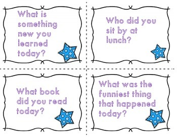 Let's Talk about Our Day! Dismissal Time Reflection Task Cards