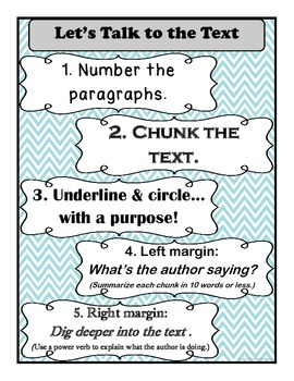 Let's Talk to the Text- Posters for Close Reading