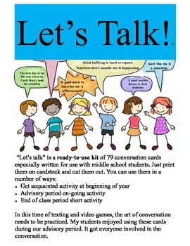 Let's Talk:79  Ready to Use Conversation Cards