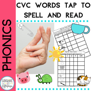 CVC Word Work: Let's Tap out to Spell and Read Those CVC W