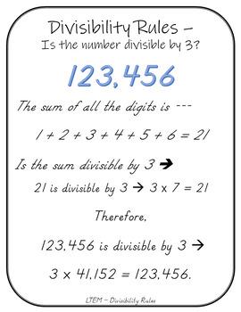 Let's Teach 'em Math - Divisibility Rules