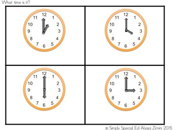 Let's Tell Time! An Analog Clock File Folder