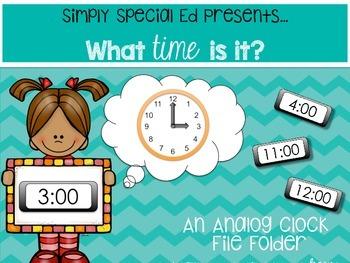 Let's Tell Time! An Analog Clock File Folder