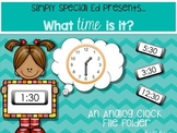 Let's Tell Time: Half Hour! An Analog Clock File Folder
