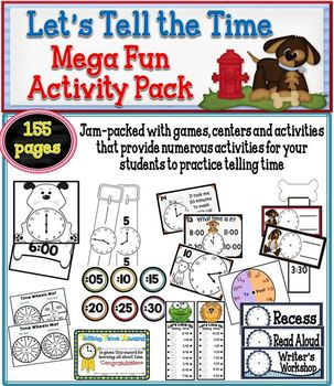 Let's Tell the Time Mega Activity Pack