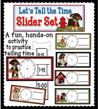 Let's Tell the Time Slider Set