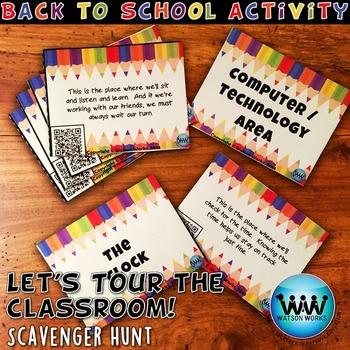 Let's Tour the Classroom! Scavenger Hunt: A Back to School Activity w/ QR Codes