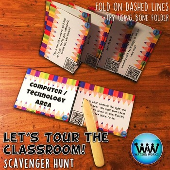 Let's Tour the Classroom! Scavenger Hunt: A Back to School Activity w/ QR Codes