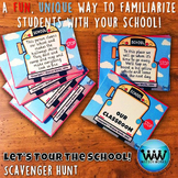 Let's Tour the School! Scavenger Hunt: A Back to School Activity