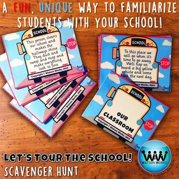 Let's Tour the School! Scavenger Hunt: A Back to School Activity