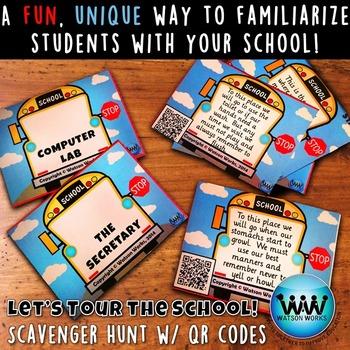 Let's Tour the School! Scavenger Hunt: A Back to School Ac