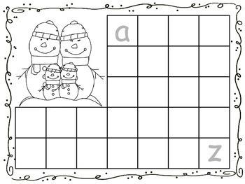 Let's Trace the Alphabet! Winter Theme