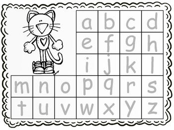 Let's Trace the Alphabet! With a Groovy Kitty