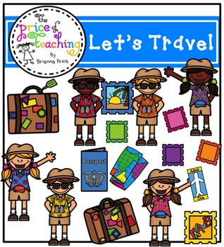 Let's Travel Clipart Set (The Price of Teaching Clipart Set)