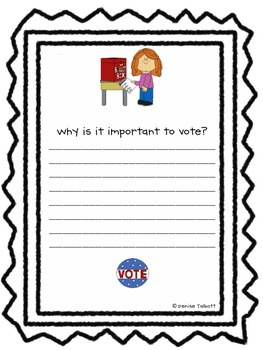 Voting and Elections Writing Prompts