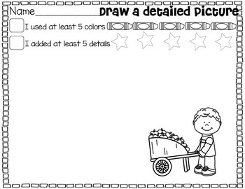Let's Work On Writing September {Drawing Detailed Pictures}