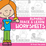 Alphabet - Trace and Learn Worksheet Activities
