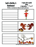Let's Write A Sentence - Writing Prompt - Fall Theme