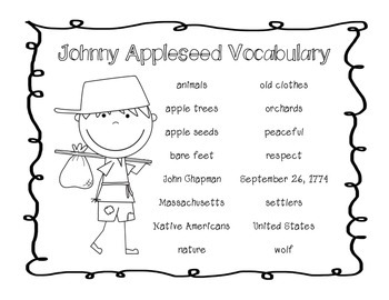 Let's Write About Johnny Appleseed