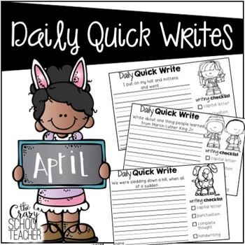 April Daily Quick Writing Prompts