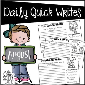 Daily Quick Writing Prompts for August