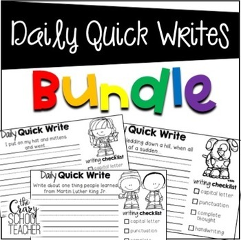 Daily Quick Writing Prompts BUNDLE