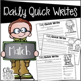 March Daily Quick Writes