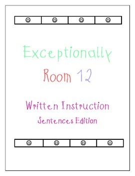 Let's Write Sentences!