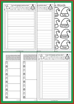 Let's Write Sentences - Christmas {Ruled Lines}