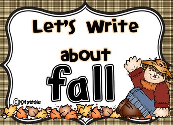 Let's Write about Fall (Common Core Aligned)