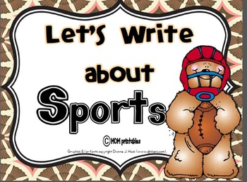 Let's Write about Sports (Common Core Aligned)