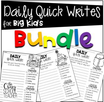Quick Writes for BIG KIDS Bundle