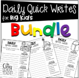 Daily Quick Writing Prompts for BIG KIDS Bundle
