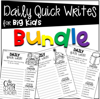 Daily Quick Writes for BIG KIDS Bundle