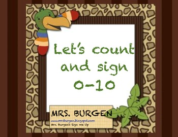 Let's count and sign numbers 0-10