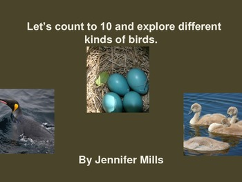Let's count to 10 and explore different types of birds!