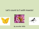 Let's count to 5 with insects!