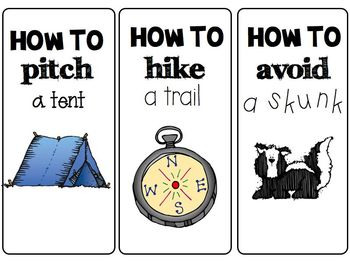 Let's go Camping! 16 {Common Core Aligned} Literacy Center Task Cards